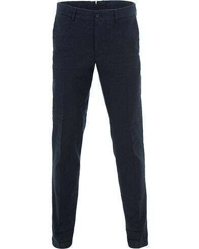 J.Lindeberg Grant Cotton/Linen Trousers Navy