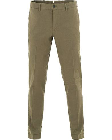 J.Lindeberg Grant Cotton/Linen Trousers Ivy Green