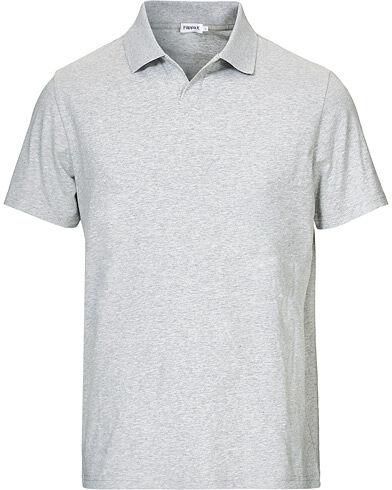 Filippa K Soft Lycra Polo T-Shirt Light Grey Melange