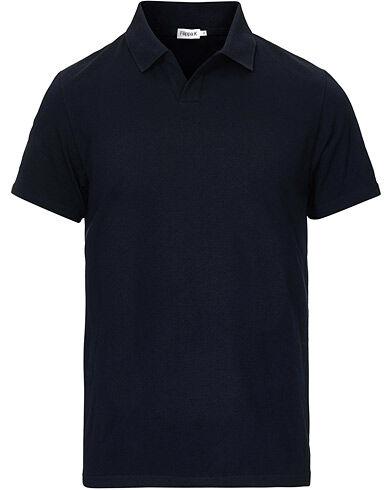 Filippa K Soft Lycra Polo T-Shirt Navy