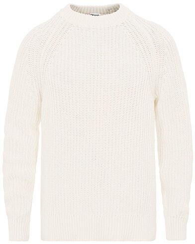 Filippa K Chunky Rib Cotton Round Neck Off White