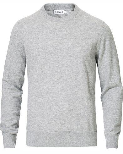 Filippa K Cotton Merino Basic Sweater Light Grey Melange