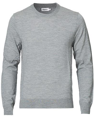 Filippa K Merino Round Neck Sweater Grey Melange