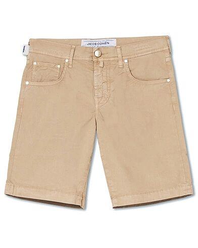 Jacob Cohën 5-Pocket Gabardine Shorts Khaki