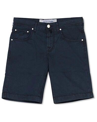 Jacob Cohën 5-Pocket Gabardine Shorts Blue