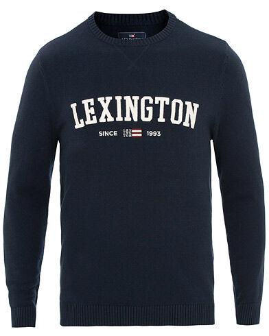 Lexington Nelson Knitted Crew Neck Navy Blue