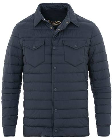 Herno Nuage Matt Nylon Legend Shirt Jacket Avio Blue