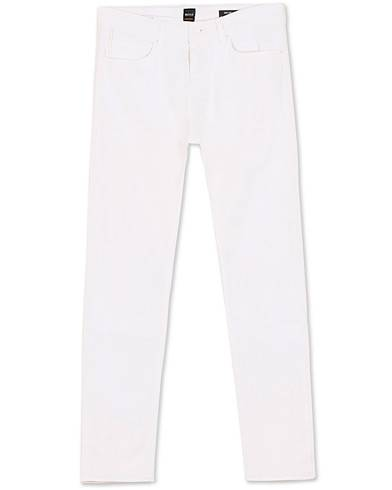 BOSS Casual Delaware Slim Fit Stretch Jeans White