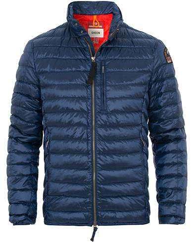 Parajumpers Bredford Sheen Lightweight High Gloss Jacket Navy Peony