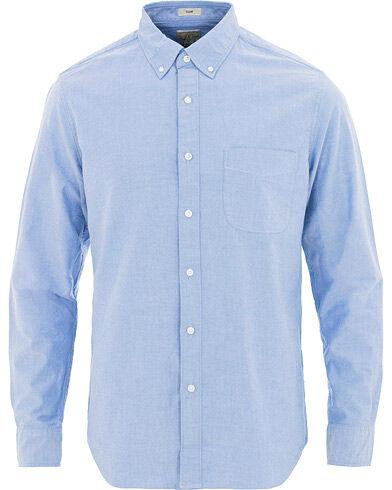 J.Crew Slim Fit Stretch Oxford Shirt Raincoat Blue