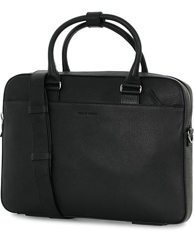 Tiger of Sweden Bosun Grained Leather Briefcase Black