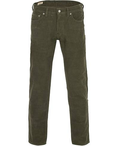 Levis 511 Slim Fit Stretch Corduroy Trousers Olive Night