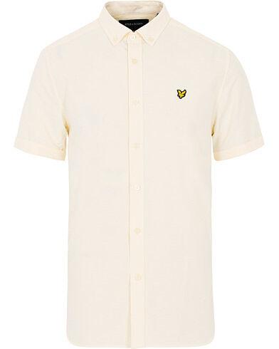 Lyle & Scott Oxford Short Sleeve Shirt Butter Cream Yellow