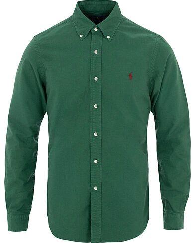 Image of Ralph Lauren Slim Fit Garment Dyed Oxford Shirt Green