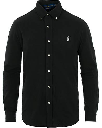Image of Ralph Lauren Slim Fit Featherweight Shirt Black