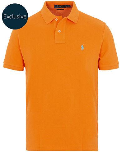 Image of Ralph Lauren Custom Slim Fit Neon Mesh Polo Resort Orange