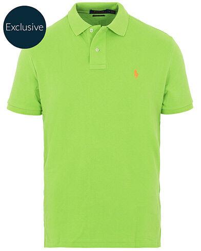 Image of Ralph Lauren Custom Slim Fit Neon Mesh Polo Galaxy Green