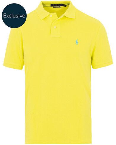 Image of Ralph Lauren Custom Slim Fit Neon Mesh Polo Laser Yellow