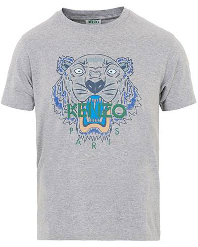 Image of Kenzo Icon Tiger T-shirt Grey Melange