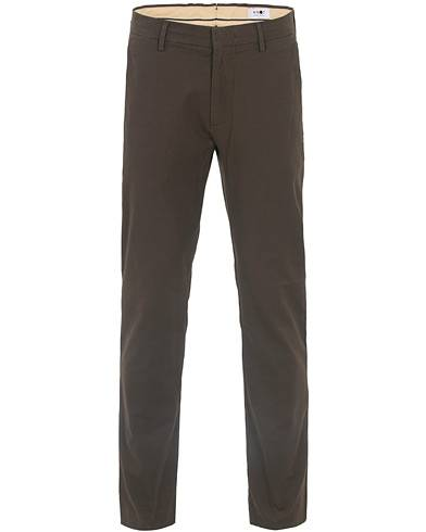 NN07 Theo Regular Fit Stretch Chinos Brown
