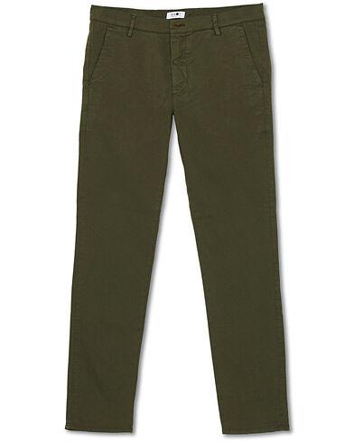 NN07 Joe Skinny Fit Stretch Chinos Army Green