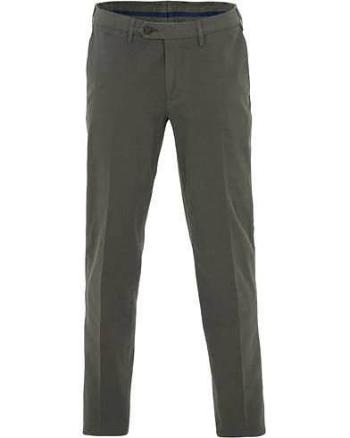 Canali Slim Fit Stretch Chinos Green