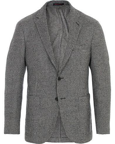 Image of The Gigi Houndstooth Soft Wool Blazer Light Grey