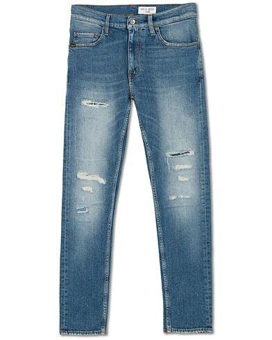 Tiger of Sweden Jeans Pistolero Frantic Stretch Shredded Jeans Mid Blu