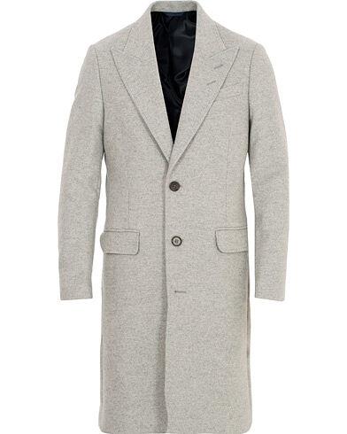Tiger of Sweden Seder Peak Lapel Wool/Cashmere Coat Light Grey Melange