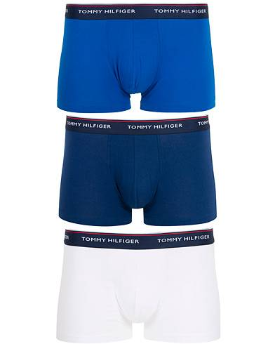 Tommy Hilfiger Stretch Trunk 3-Pack Ligtht Blue/White/Navy