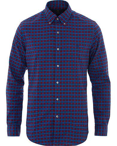 Image of Ralph Lauren Slim Fit Flannel Check Shirt Navy