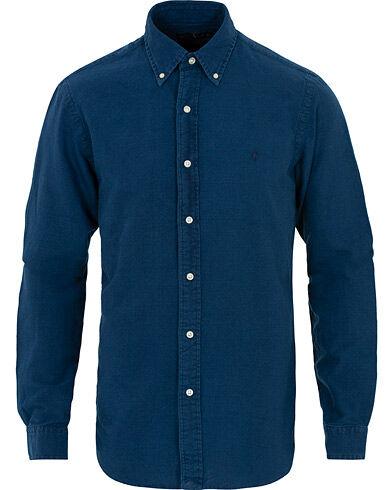 Image of Ralph Lauren Slim Fit Indigo Shirt Blue