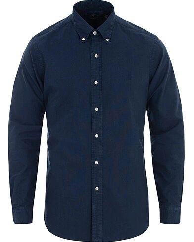 Ralph Lauren Custom Fit Garment Dyed Oxford Shirt Newport Navy