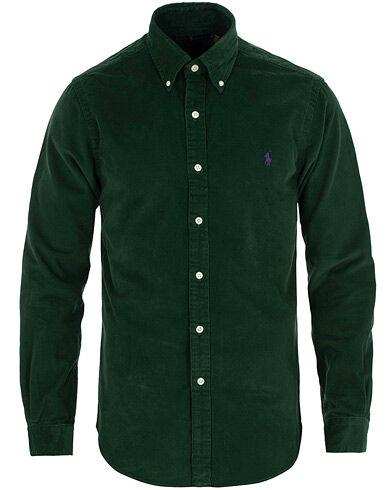 Image of Ralph Lauren Slim Fit Corduroy Shirt Green