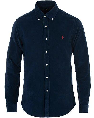 Image of Ralph Lauren Slim Fit Corduroy Shirt Cruise Navy