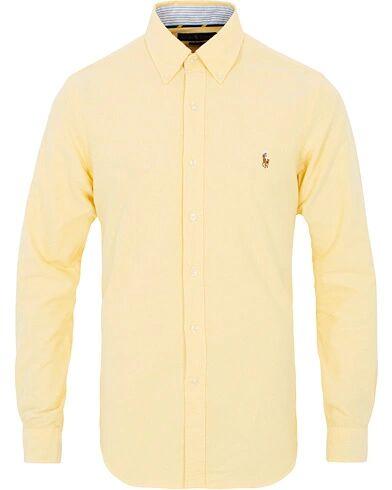 Image of Ralph Lauren Slim Fit Contrast Oxford Shirt Yellow