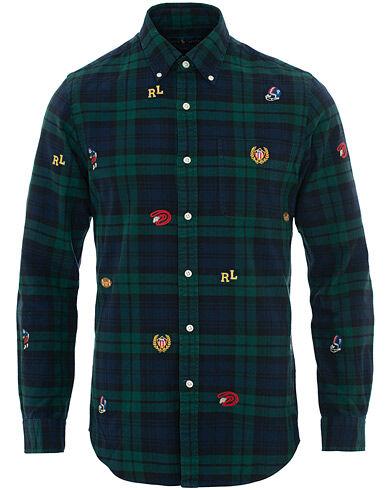 Image of Ralph Lauren Slim Fit Woven Crest Shirt Blackwatch