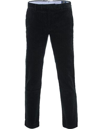 Image of Ralph Lauren Hudson Slim Fit Corduroy Trousers Black