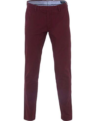 Image of Ralph Lauren Tailored Slim Fit Hudson Chino Wine Red