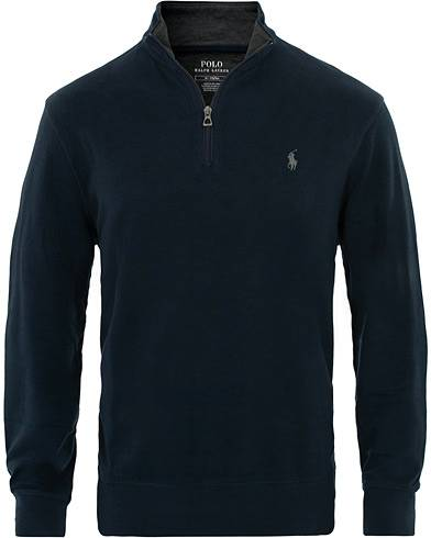 Image of Ralph Lauren Jersey Half Zip Aviator Navy