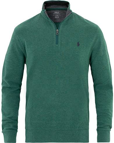 Image of Ralph Lauren Jersey Half Zip Green Heather