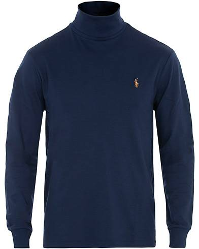 Image of Ralph Lauren Jersey Rollneck French Navy