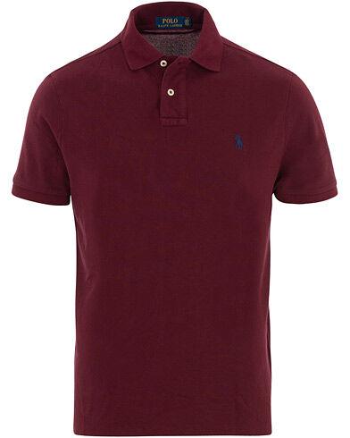 Image of Ralph Lauren Custom Slim Fit Polo Wine Red