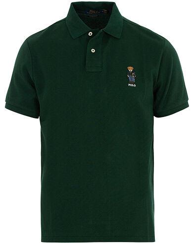 Image of Ralph Lauren Custom Slim Fit Bear Polo Green