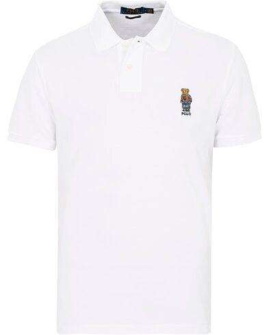 Image of Ralph Lauren Custom Slim Fit Bear Polo White