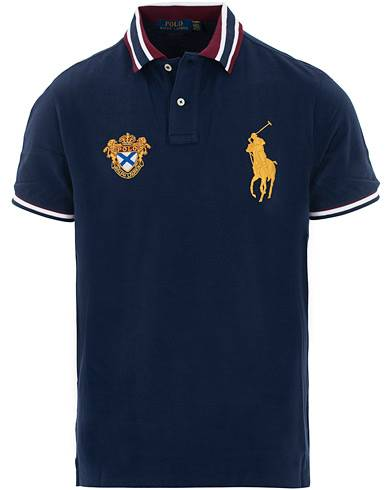 Image of Ralph Lauren Custom Slim Fit Crest Big Pony Polo French Navy