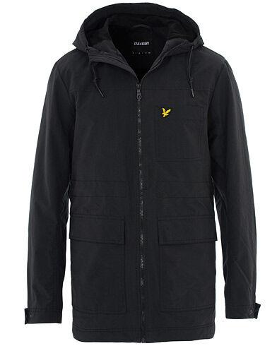 Lyle & Scott Micro Fleece Lined Hooded Jacket True Black