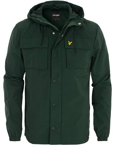 Lyle & Scott Pocket Hooded Jacket Jade Green