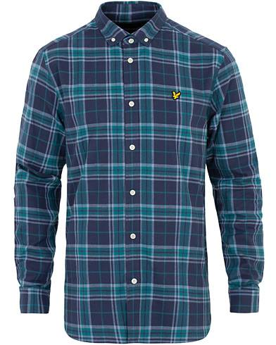 Lyle & Scott Check Flannel Shirt Navy