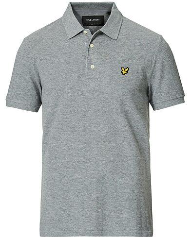 Lyle & Scott Plain Polo Shirt Mid Grey Marl